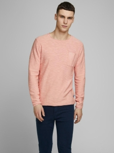 jorniels organic knit crew neck 12170772 jack & jones trui rossete/knit fit