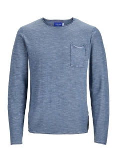 Jack & Jones Trui JORNIELS ORGANIC KNIT CREW NECK 12170772 Ensign Blue/KNIT FIT