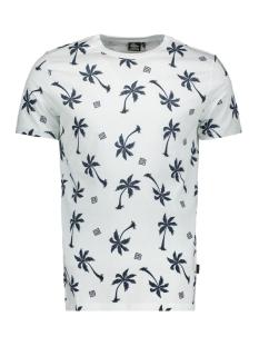 Kultivate T-shirt TS BLUE PALMS 2001020214 203 ECRU