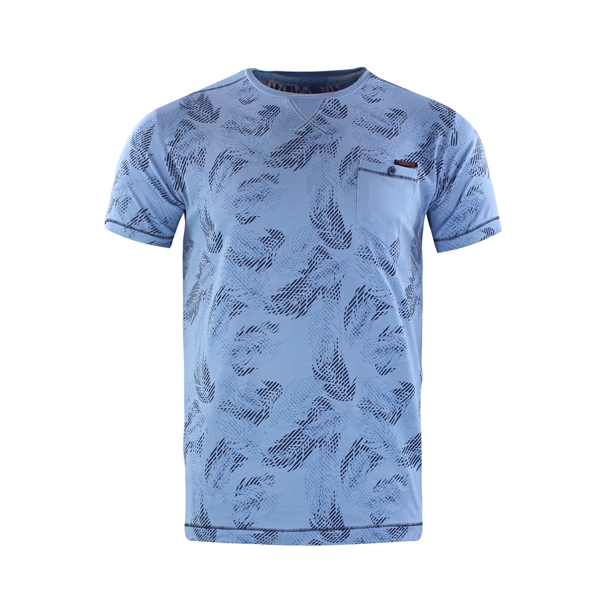 t shirt 15175 gabbiano t-shirt blue