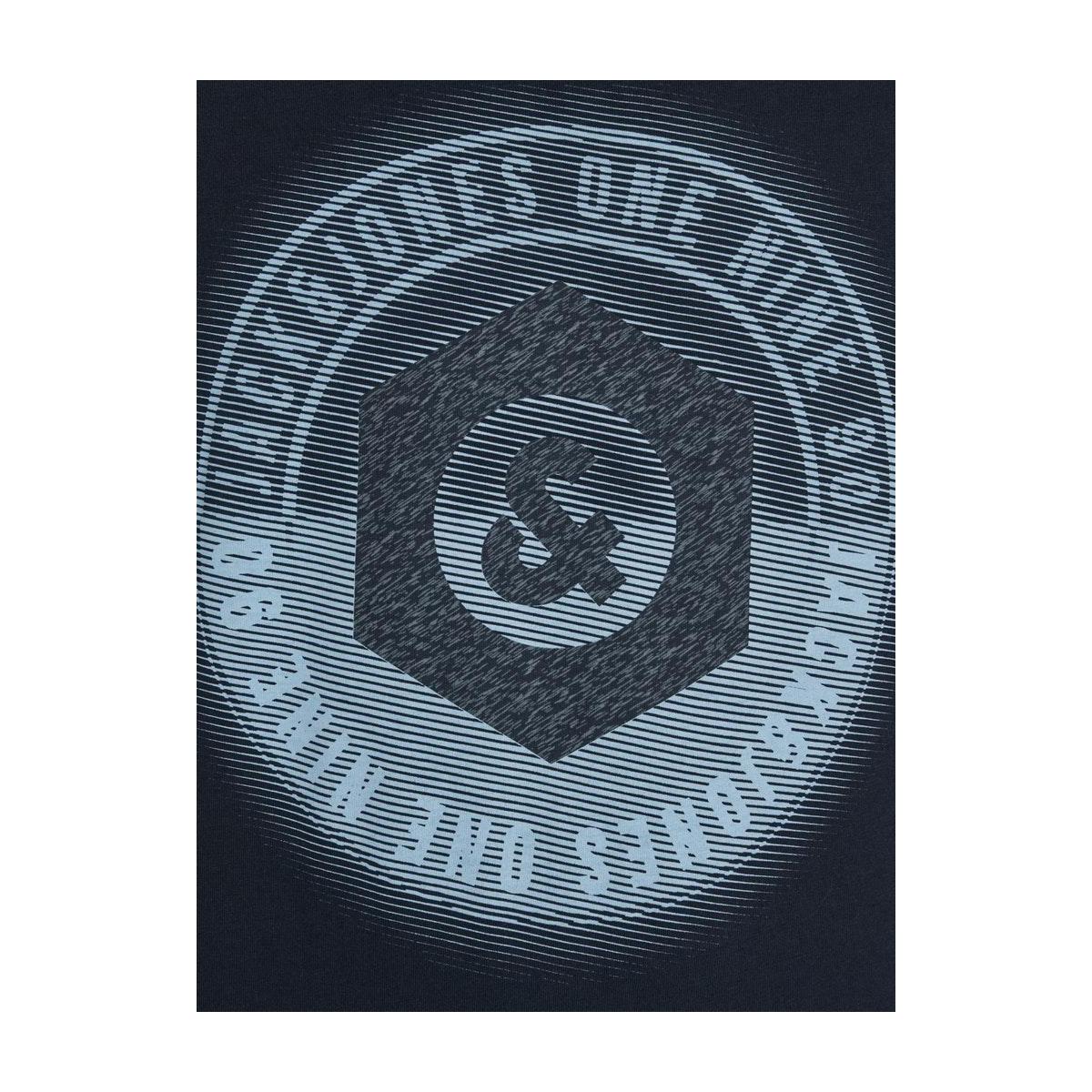 jcologo-universe tee ss crew  neck 12172273 jack & jones t-shirt sky captain/slim/uni