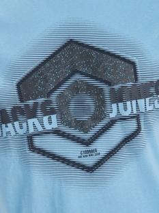 jcologo-universe tee ss crew  neck 12172273 jack & jones t-shirt dusk blue/slim/uni