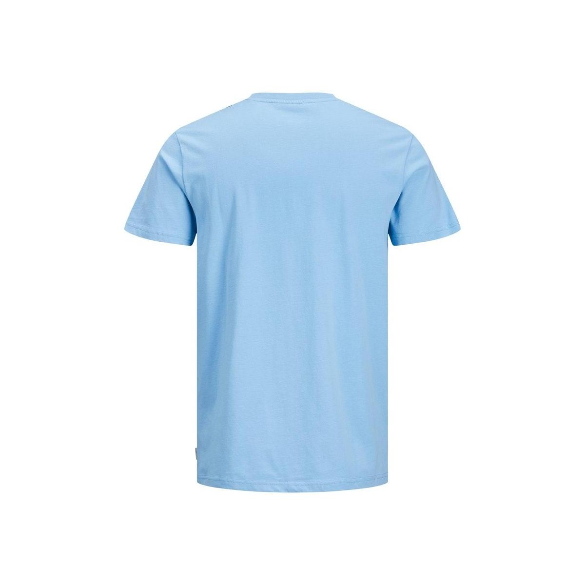 jcologo-universe tee ss crew  neck 12172273 jack & jones t-shirt dusk blue/slim/logo
