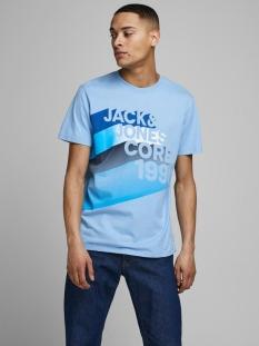 Jack & Jones T-shirt JCOLOGO-UNIVERSE TEE SS CREW  NECK 12172273 Dusk Blue/SLIM/LOGO