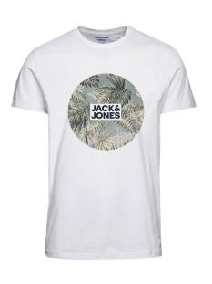 joreli organic tee ss crew neck fst 12172560 jack & jones t-shirt cloud dancer/slim