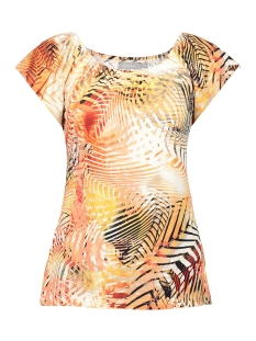 t shirt aop multi kim 02030 60 geisha t-shirt salmon multi