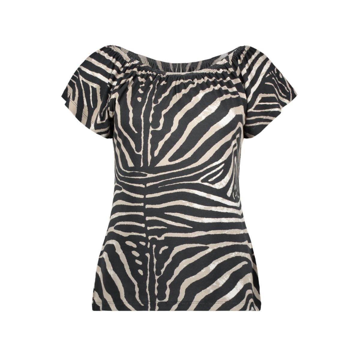 t shirt aop multi kim 02030 60 geisha t-shirt zebra