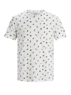 jorlino aop tee ss crew neck 12171692 jack & jones t-shirt cloud dancer/slim
