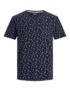 Jack & Jones T-shirt JORLINO AOP TEE SS CREW NECK 12171692 Navy Blazer/SLIM