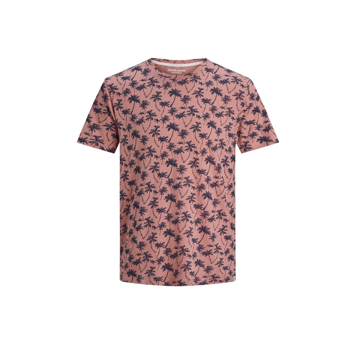 jorlino aop tee ss crew neck 12171692 jack & jones t-shirt rosette/slim