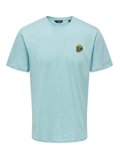 onsimas reg ss tee noos 22016351 only & sons t-shirt aquatic