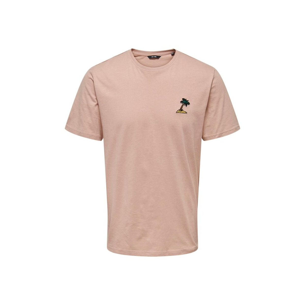 onsimas reg ss tee noos 22016351 only & sons t-shirt misty rose