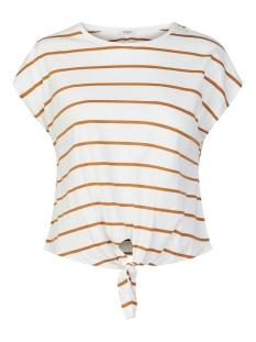 pcsarafina ss top d2d bc 17107941 pieces t-shirt bright white/meerkat