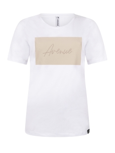 Zoso T-shirt AVENUE T SHIRT 202 WHITE/SAND