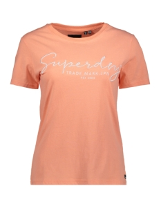 Superdry T-shirt ALICE SCRIPT ENTRY TEE W1010180A DESERT FLOWER