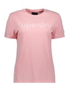 Superdry T-shirt REG FLOCK ENTRY TEE W1010134A BALLET PINK