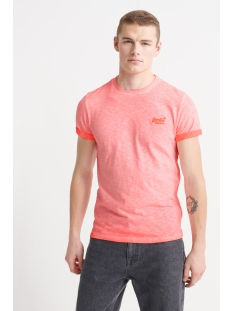 ol low roller tee m1010025a superdry t-shirt hyper fire coral