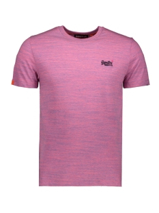Superdry T-shirt OL VINTAGE EMB CREW M1010024A NEON PINK SPACE DYE