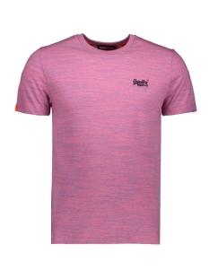 Superdry T-shirt OL VINTAGE EMB CREW M1010024A NEON PINK SPACE DYE