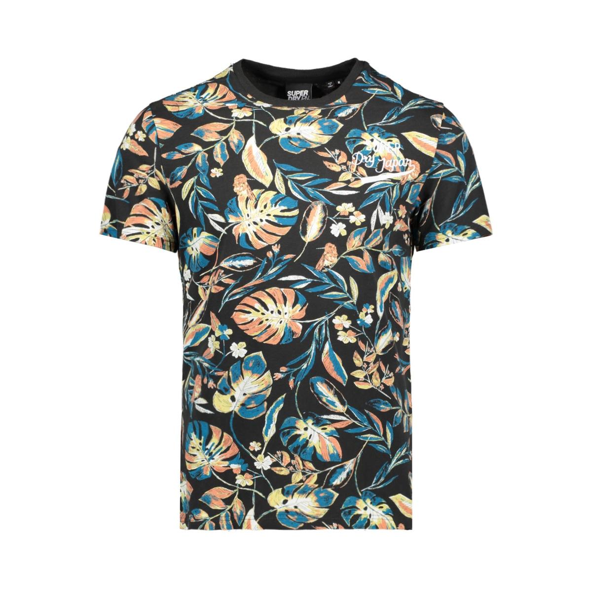 aop supply tee m1010191a superdry t-shirt black aop