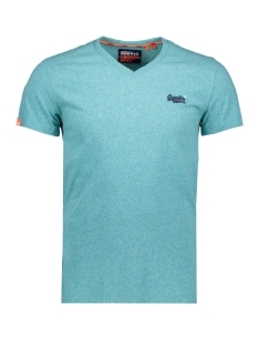 Superdry T-shirt OL VINTAGE EMBROIDERY VEE TEE M1010122A TURQUOISE GRIT