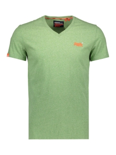 ol vintage embroidery vee tee m1010122a superdry t-shirt shamrock green grit