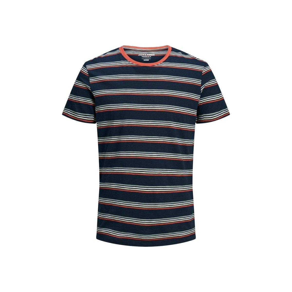 jorbobbi organic tee ss crew neck 12172001 jack & jones t-shirt navy blazer/slim