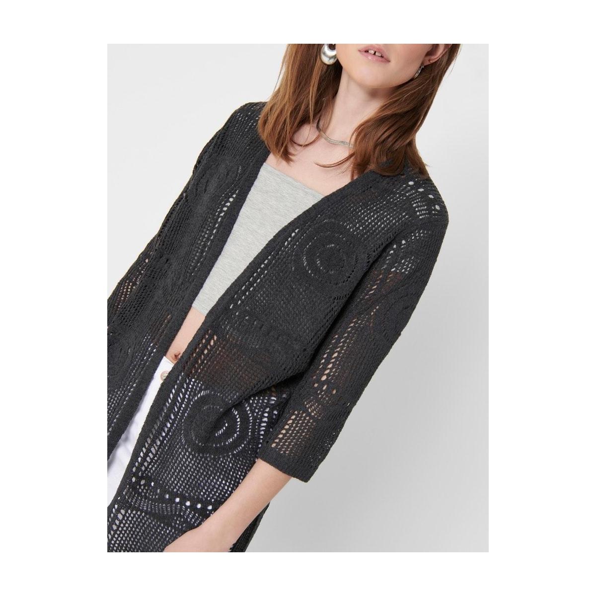 jdykofi 3/4 kimono knt denim 15200527 jacqueline de yong vest asphalt