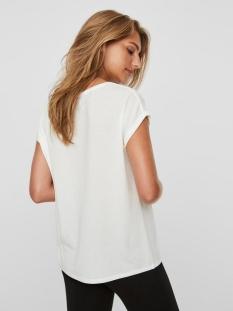 vmava plain ss top ga noos 10187159 vero moda t-shirt snow white