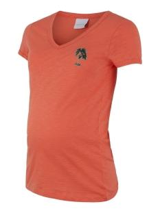 Mama-Licious Positie shirt MLJOANA S/S JERSEY TOP A. 20011019 Emberglow