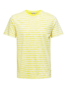 Only & Sons T-shirt ONSIGNITE SLIM SS STRIPE TEE 22016734 WHITE/LIMELIGHT