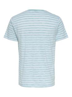 onsignite slim ss stripe tee 22016734 only & sons t-shirt white/aquatic