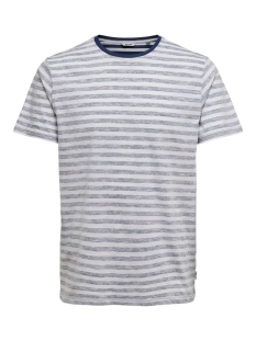Only & Sons T-shirt ONSIGNITE SLIM SS STRIPE TEE 22016734 DRESS BLUE/WHITE