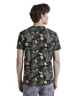 t shirt met all over print 1018567xx12 tom tailor t-shirt 22874