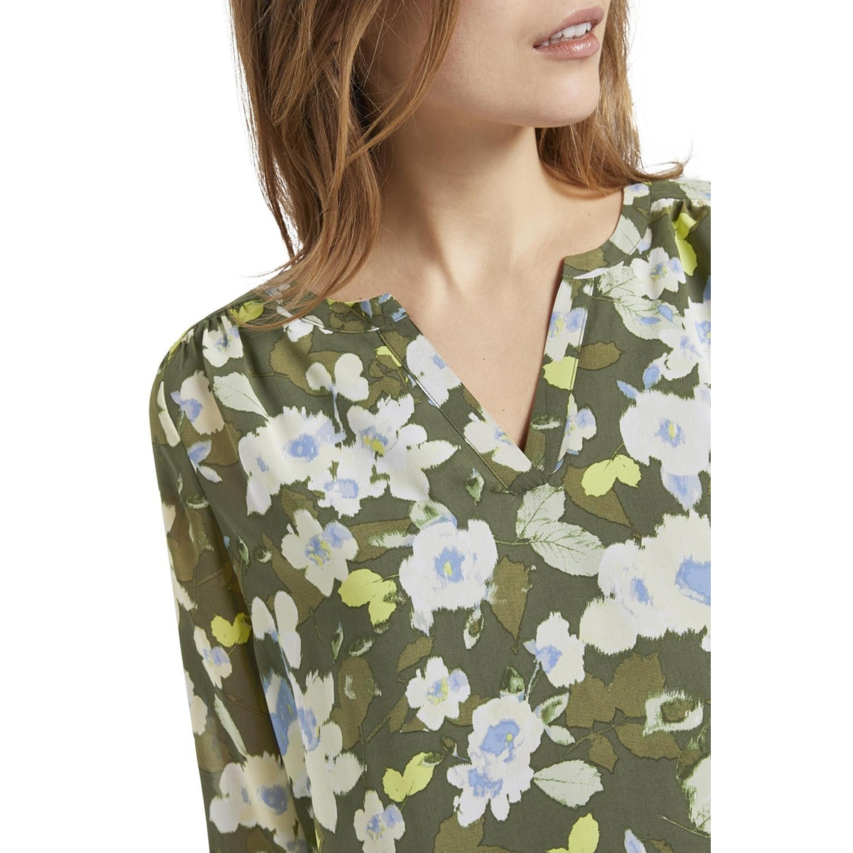 chiffon jersey shirt met bloemenprint 1019967xx70 tom tailor blouse 23151
