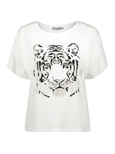 Geisha T-shirt T SHIRT BOXY ROUND NECK TIGER SS 02352 46 Off White