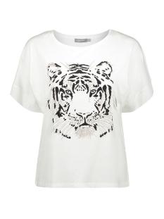t shirt boxy round neck tiger ss 02352 46 geisha t-shirt off white