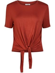 pcneora ss tie tee sww 17102002 pieces t-shirt burnt henna