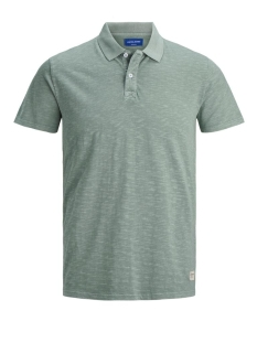jornew overdyed organic polo ss 12172021 jack & jones polo green milieu/slim