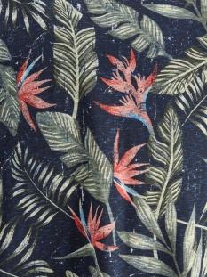 joreli organic aop tee ss crew neck 12172036 jack & jones t-shirt navy blazer/slim