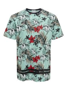 Only & Sons T-shirt ONSKAFKA SLIM SS AOP TEE 22016074 Aquifer