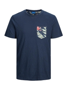 jorelipocket organic tee ss crew ne 12172037 jack & jones t-shirt navy blazer/slim