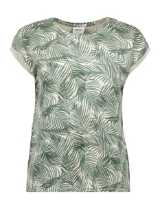 vmava plain ss top aop ga color 10211314 vero moda t-shirt laurel wreath/pam
