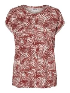 vmava plain ss top aop ga color 10211314 vero moda t-shirt sable/pam