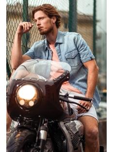 short sleeve indigo denim shirt vsis203248 vanguard overhemd 5402
