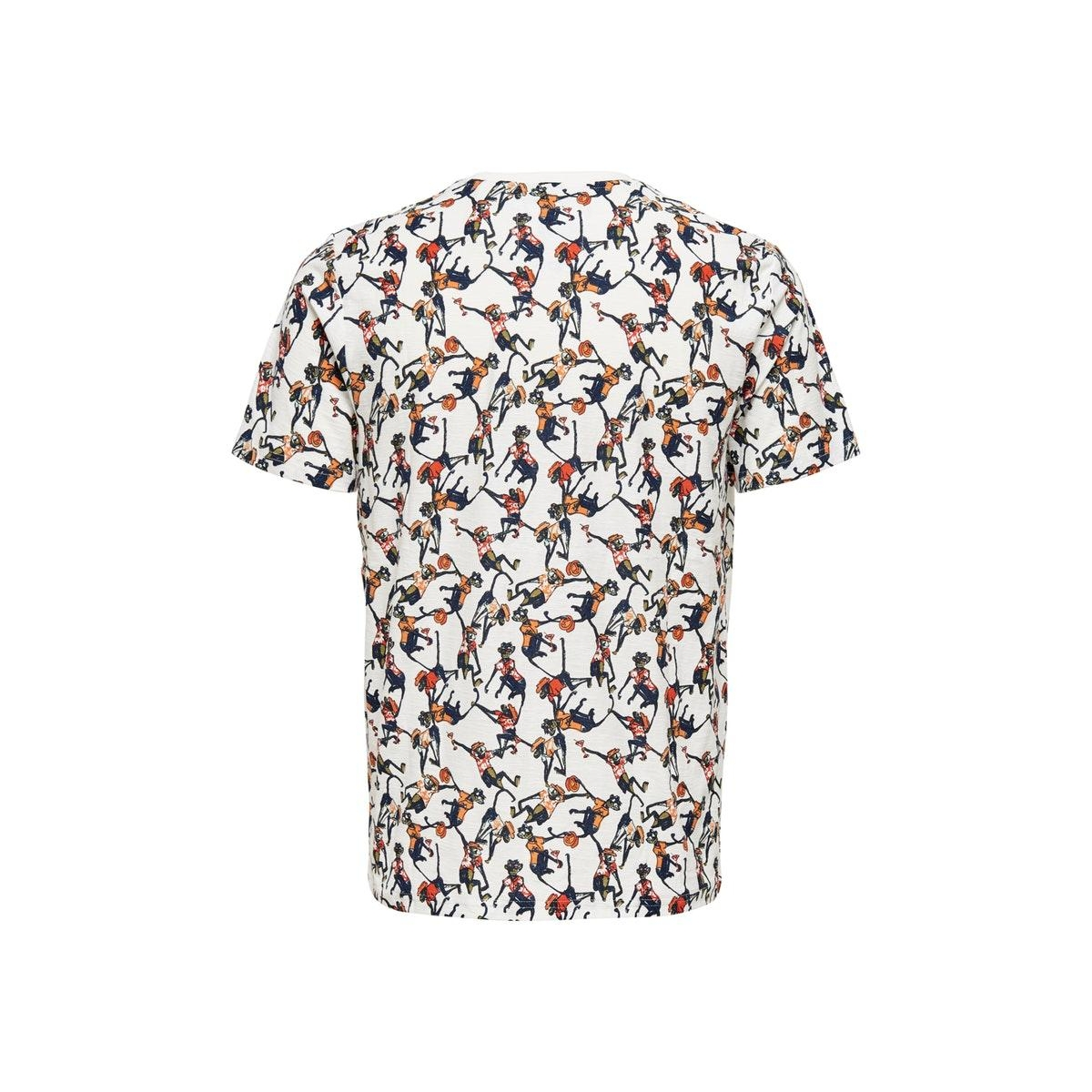 onsedgarki life slim ss tee nf 6542 22016542 only & sons t-shirt cloud dancer