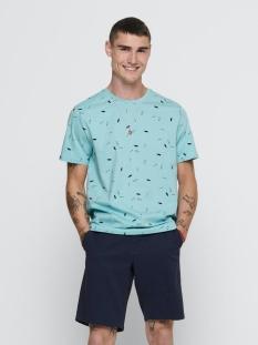 Only & Sons T-shirt ONSINOEL SLIM SS AOP TEE 22016920 AQUATIC/ DRESS BLUE