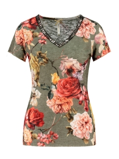 Key Largo T-shirt SPRING V NECK WT00206 KHAKI