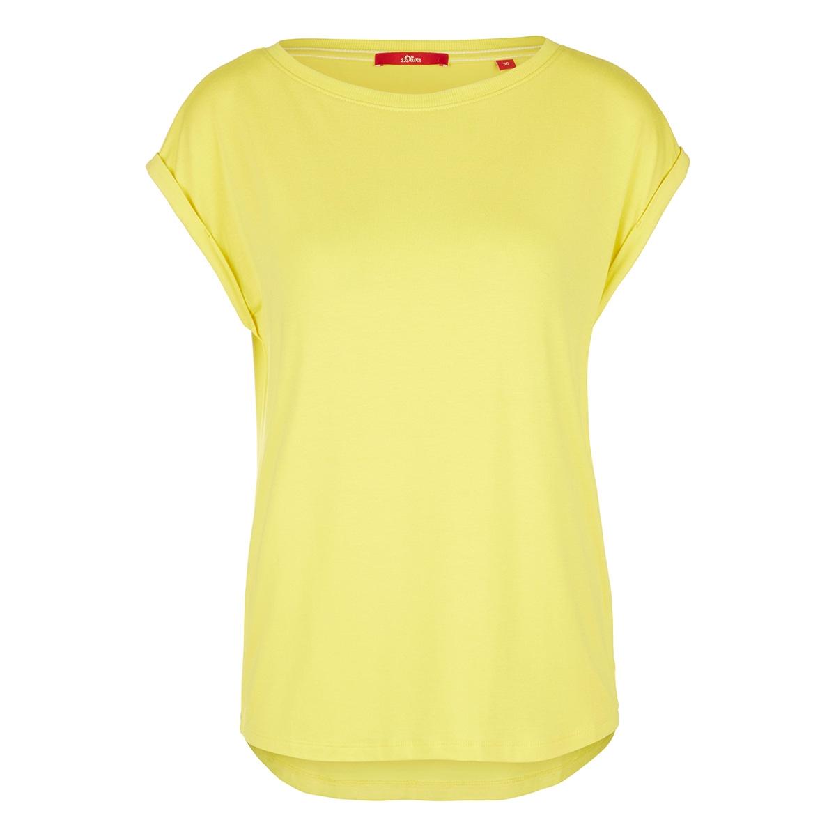 viscose shirt met geribde rand 14004325091 s.oliver t-shirt 1201