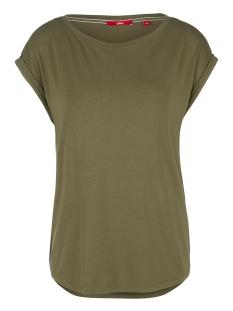 s.Oliver T-shirt VISCOSE SHIRT MET GERIBDE RAND 14004325091 7810